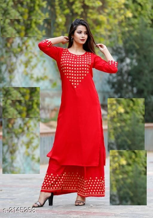 Kurtis & Kurtas Efficient Rayon Kurti  *Fabric* Kurti - Rayon, Palazzo - Rayon 