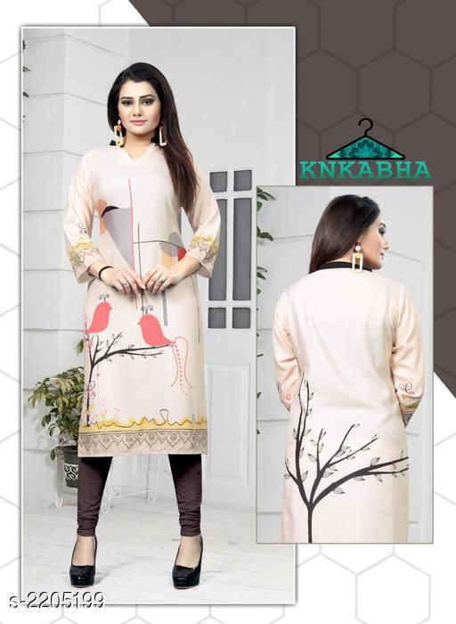 Kurtis & Kurtas Casual Poly Rayon Printed Women's Kurti  *Fabric* Poly Rayon  *Sleeves* 3/4 Sleeves Are Included  *Size* Bust - M - 38 in, L - 40 in, XL - 42 in, XXL - 44 in  *Length* Up To 46 in  *Type* Stitched  *Description* It has 1 Piece of Women's Kurti  *Work* Printed  *Sizes Available* M, L, XL, XXL   Catalog Rating: ★2.5 (4) Supplier Rating: ★3.5 (10) SKU: CPRPWK - 9 Free shipping is available for this item. Pkt. Weight Range: 300  Catalog Name: Mishti Casual Poly Rayon Printed Women's Kurtis Vol 4 - SWRP FASHION Code: 994-2205199--