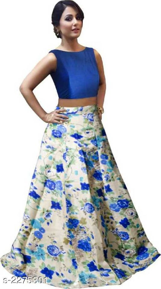 Lehengas Partywear Satin Women's Printed Lehenga  *Fabric* Lehenga - Satin, Blouse - Satin 