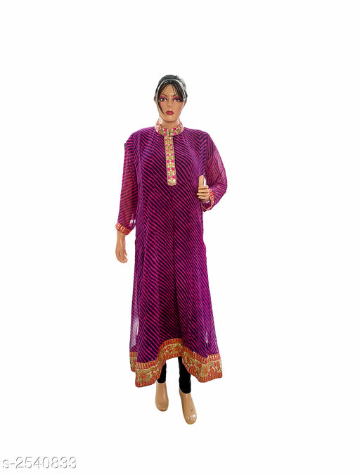 Kurtis & Kurtas Elegant Style Printed Kurti  *Fabric* Georgette  *Sleeves* 3/4 Sleeve Are Included  *Size* XXL- 44 in  *Length* Up To 48 in  *Type* Stitched  *Description* It Has 1 Piece Of Women's Kurti  *Work* Printed  *Sizes Available* XXL   Supplier Rating: ★3.9 (359) SKU: Kurti---4024  Free shipping is available for this item. Pkt. Weight Range: 300  Catalog Name: Allure Elegant Style Printed Kurtis vol 8 - Ard Fashion Code: 019-2540833--