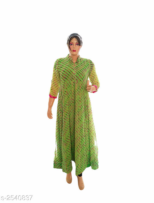 Kurtis & Kurtas Elegant Style Printed Kurti  *Fabric* Georgette  *Sleeves* 3/4 Sleeve Are Included  *Size* XXL- 44 in  *Length* Up To 50 in  *Type* Stitched  *Description* It Has 1 Piece Of Women's Kurti  *Work* Printed  *Sizes Available* XXL   Supplier Rating: ★3.9 (359) SKU: Kurti---4027-1  Free shipping is available for this item. Pkt. Weight Range: 300  Catalog Name: Allure Elegant Style Printed Kurtis vol 8 - Ard Fashion Code: 558-2540837--