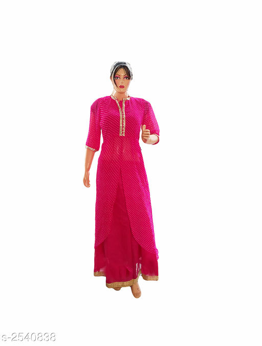 Kurtis & Kurtas Elegant Style Printed Kurti  *Fabric* Georgette & Dupion Silk  *Sleeves* 3/4 Sleeve Are Included  *Size* L- 40 in  *Length* Up To 50 in  *Type* Stitched  *Description* It Has 2 Pieces Of Women's Kurti  *Work* Printed  *Sizes Available* L   Supplier Rating: ★3.9 (359) SKU: Kurti---4028  Free shipping is available for this item. Pkt. Weight Range: 300  Catalog Name: Allure Elegant Style Printed Kurtis vol 8 - Ard Fashion Code: 528-2540838--