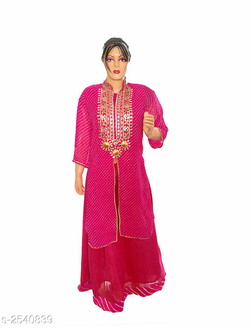 Kurtis & Kurtas Elegant Style Printed Kurti  *Fabric* Georgette  *Sleeves* 3/4 Sleeve Are Included  *Size* L- 40 in  *Length* Up To 50 in  *Type* Stitched  *Description* It Has 2 Pieces Of Women's Kurti  *Work* Printed  *Sizes Available* L   Supplier Rating: ★3.9 (359) SKU: Kurti---4029  Free shipping is available for this item. Pkt. Weight Range: 300  Catalog Name: Allure Elegant Style Printed Kurtis vol 8 - Ard Fashion Code: 5611-2540839--