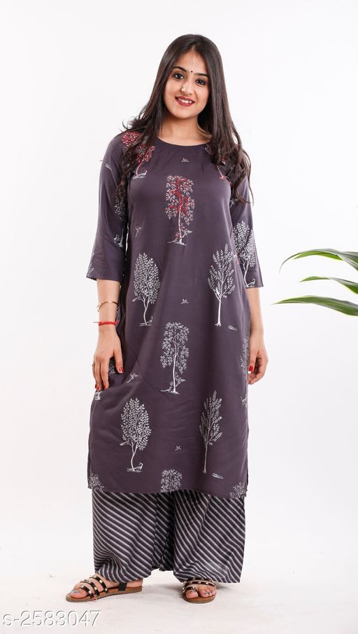 Kurtis & Kurtas Elite Stylish Cotton Women's Kurti With Palazzo  *Fabric* Kurti - Cotton, Palazzo - Cotton  *Sleeves* Sleeves Are Included  *Size* Kurti - M - 36 in, L - 38 in, XL - 40 in, 3XL - 44 in  Palazzo - M - 28 in, L - 30 in, XL - 32 in, 3XL - 36 in  *Length Size* Kurti - Up To 42 in, Palazzo - Up To 40 in  *Type* Stitched  *Description* It Has 1 Piece Of Women's Kurti, 1 Piece of Palazzo  *Work* Kurti - Printed, Palazzo - Printed  *Sizes Available* L, XL, XXL   Supplier Rating: ★4.1 (2703) SKU: M132 Free shipping is available for this item. Pkt. Weight Range: 350  Catalog Name: Elite Stylish Cotton Women's Kurti With Palazzo Vol 1 - Khhalisi Code: 9671-2583047--