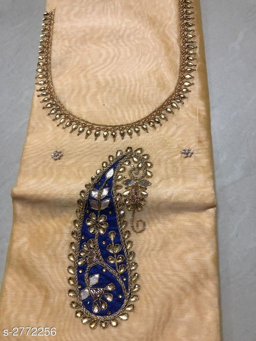 Kurti Fabric Attractive Pure Chanderi Silk  Kurti Fabric  *Fabric* Kurti - Pure Chanderi Silk  *Size* 2.25 Mtr  *Length* 44 in  *Type* Un - Stitched  *Description* It has 1 Piece of Kurti Fabric  *Work* Embrodiery  *Sizes Available* Un Stitched   SKU: APCSSDM-19 Free shipping is available for this item. Pkt. Weight Range: 200  Catalog Name: Dayita Attractive Pure Chanderi Silk Kurtis Fabrics Vol 6 - SILVER CLOTHING COLLECTION Code: 076-2772256--