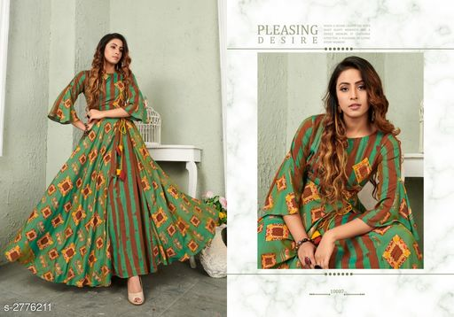 Kurtis & Kurtas Trendy Women's Viscose Long Printed Kurti Trendy Women's Viscose Long Printed Kurti  *Sizes Available* XL, XXL   Catalog Rating: ★3.8 (19) Supplier Rating: ★4 (1147) SKU: VG-RAMA Shipping charges: Rs1 (Non-refundable) Pkt. Weight Range: 300  Catalog Name: Trendy Women's Viscose Long Printed Kurtis - NAVRAJ FASHION Code: 9921-2776211--8631