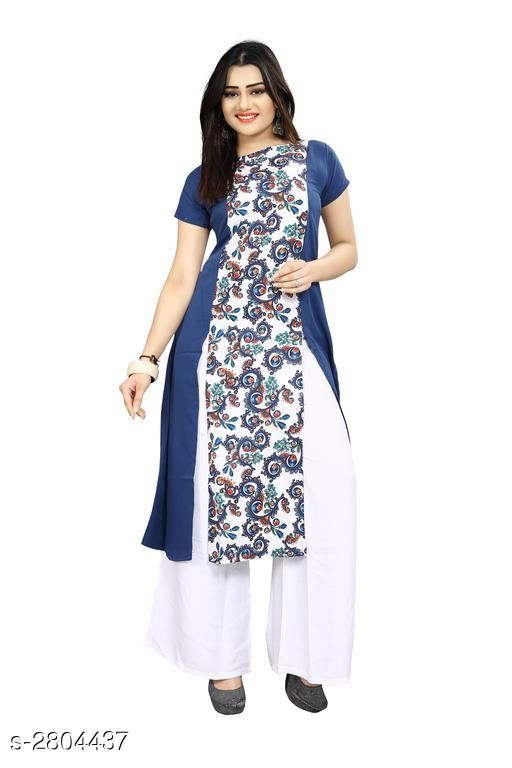 Kurtis & Kurtas American Crepe Women's Kurti  *Fabric* American Crepe  *Sleeves* Sleeves Are Included  *Size* S - 36 in, M - 38 in, L - 40 in, XL - 42 in, XXL - 44 in  *Length* Up To 44 in  *Type* Stitched  *Description* It Has 1 Piece Of Women's Kurti  *Work* Printed  *Sizes Available* S   Supplier Rating: ★3.9 (6043) SKU: 59 Shipping charges: Rs49 (Non-refundable) Pkt. Weight Range: 300  Catalog Name: Carissa American Crepe Women's Kurtis Vol 17 - Crepe wali Kurtis Code: 992-2804437--