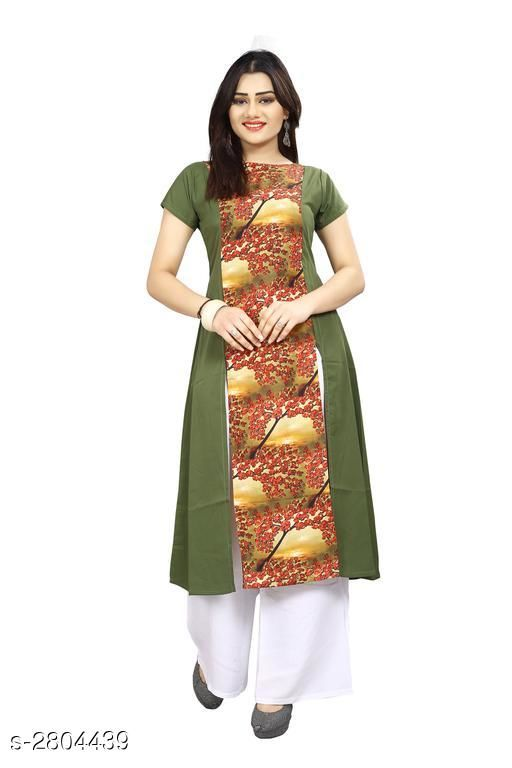 Kurtis & Kurtas American Crepe Women's Kurti  *Fabric* American Crepe  *Sleeves* Sleeves Are Included  *Size* S - 36 in, M - 38 in, L - 40 in, XL - 42 in, XXL - 44 in  *Length* Up To 44 in  *Type* Stitched  *Description* It Has 1 Piece Of Women's Kurti  *Work* Printed  *Sizes Available* S, M, XL, XXL   Supplier Rating: ★3.9 (6043) SKU: 60 Shipping charges: Rs49 (Non-refundable) Pkt. Weight Range: 300  Catalog Name: Carissa American Crepe Women's Kurtis Vol 17 - Crepe wali Kurtis Code: 992-2804439--