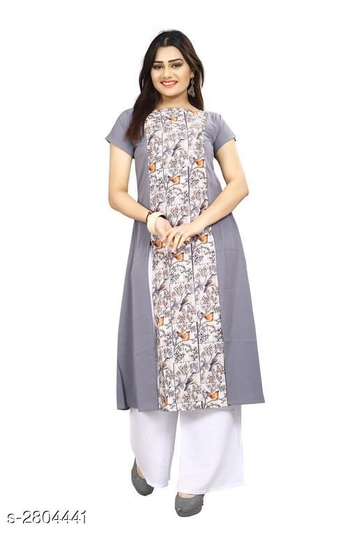 Kurtis & Kurtas American Crepe Women's Kurti  *Fabric* American Crepe  *Sleeves* Sleeves Are Included  *Size* S - 36 in, M - 38 in, L - 40 in, XL - 42 in, XXL - 44 in  *Length* Up To 44 in  *Type* Stitched  *Description* It Has 1 Piece Of Women's Kurti  *Work* Printed  *Sizes Available* S, M, L   Supplier Rating: ★3.9 (6043) SKU: 61 Shipping charges: Rs49 (Non-refundable) Pkt. Weight Range: 300  Catalog Name: Carissa American Crepe Women's Kurtis Vol 17 - Crepe wali Kurtis Code: 992-2804441--