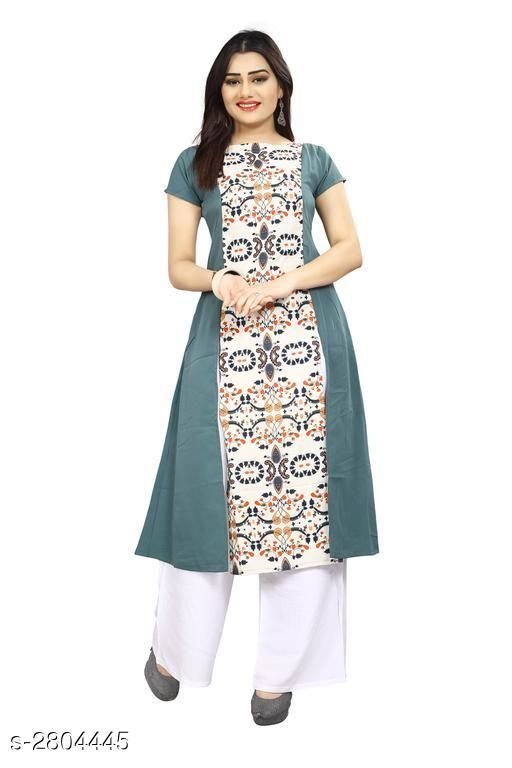 Kurtis & Kurtas American Crepe Women's Kurti  *Fabric* American Crepe  *Sleeves* Sleeves Are Included  *Size* S - 36 in, M - 38 in, L - 40 in, XL - 42 in, XXL - 44 in  *Length* Up To 44 in  *Type* Stitched  *Description* It Has 1 Piece Of Women's Kurti  *Work* Printed  *Sizes Available* L, XL   Supplier Rating: ★3.9 (6043) SKU: 64 Shipping charges: Rs49 (Non-refundable) Pkt. Weight Range: 300  Catalog Name: Carissa American Crepe Women's Kurtis Vol 17 - Crepe wali Kurtis Code: 992-2804445--