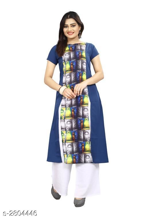 Kurtis & Kurtas American Crepe Women's Kurti  *Fabric* American Crepe  *Sleeves* Sleeves Are Included  *Size* S - 36 in, M - 38 in, L - 40 in, XL - 42 in, XXL - 44 in  *Length* Up To 44 in  *Type* Stitched  *Description* It Has 1 Piece Of Women's Kurti  *Work* Printed  *Sizes Available* S, M, L, XL   Supplier Rating: ★3.9 (6043) SKU: 65 Shipping charges: Rs49 (Non-refundable) Pkt. Weight Range: 300  Catalog Name: Carissa American Crepe Women's Kurtis Vol 17 - Crepe wali Kurtis Code: 992-2804446--