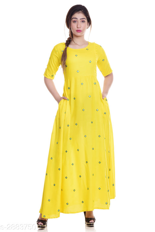Kurtis & Kurtas Ladies Rayon Mirror Work Kurti  *Fabric* Rayon  *Sleeves* Sleeves Are Included  *Size* M - 38 in, L - 40 in, XL - 42 in, XXL - 44 in, 3XL -  46 in  *Length* Up To 52 in  *Type* Stitched  *Description* It Has 1 Piece Of Women's Kurti  *Work* Mirror Work  *Sizes Available* M, L, XL, XXL, XXXL   Supplier Rating: ★4 (1879) SKU: NL-289 Free shipping is available for this item. Pkt. Weight Range: 300  Catalog Name: Eva Trendy Attractive Rayon Mirror Work Kurti - NEELKANTH ETHNIC CENTER Code: 936-2883750--