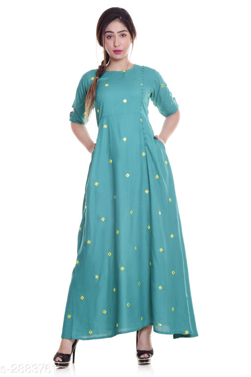 Kurtis & Kurtas Ladies Rayon Mirror Work Kurti  *Fabric* Rayon  *Sleeves* Sleeves Are Included  *Size* M - 38 in, L - 40 in, XL - 42 in, XXL - 44 in, 3XL -  46 in  *Length* Up To 52 in  *Type* Stitched  *Description* It Has 1 Piece Of Women's Kurti  *Work* Mirror Work  *Sizes Available* M, L, XL, XXL, XXXL   Supplier Rating: ★4 (1879) SKU: NL-291 Free shipping is available for this item. Pkt. Weight Range: 300  Catalog Name: Eva Trendy Attractive Rayon Mirror Work Kurti - NEELKANTH ETHNIC CENTER Code: 966-2883761--
