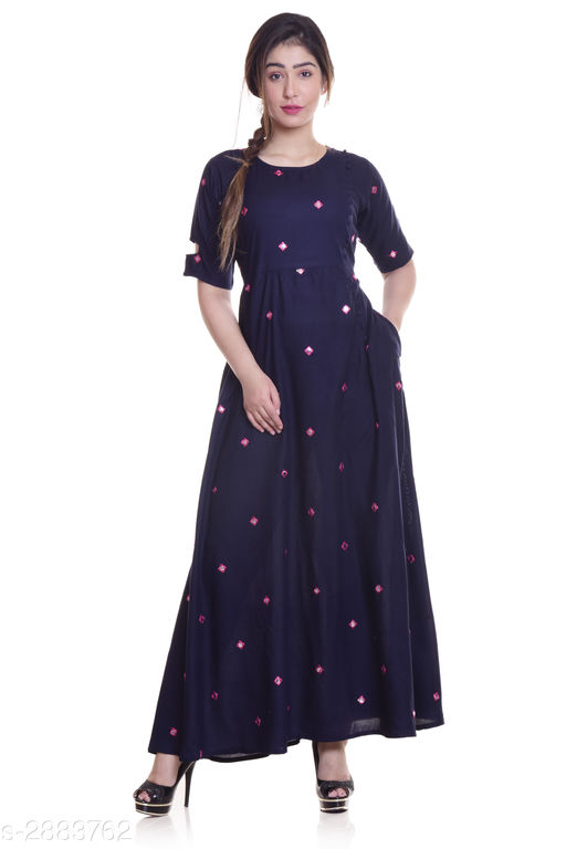 Kurtis & Kurtas Ladies Rayon Mirror Work Kurti  *Fabric* Rayon  *Sleeves* Sleeves Are Included  *Size* M - 38 in, L - 40 in, XL - 42 in, XXL - 44 in, 3XL -  46 in  *Length* Up To 52 in  *Type* Stitched  *Description* It Has 1 Piece Of Women's Kurti  *Work* Mirror Work  *Sizes Available* M, L, XL, XXL, XXXL   Supplier Rating: ★4 (1879) SKU: NL-290 Free shipping is available for this item. Pkt. Weight Range: 300  Catalog Name: Eva Trendy Attractive Rayon Mirror Work Kurti - NEELKANTH ETHNIC CENTER Code: 966-2883762--
