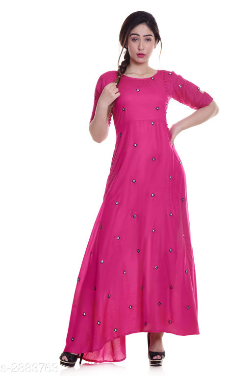 Kurtis & Kurtas Ladies Rayon Mirror Work Kurti  *Fabric* Rayon  *Sleeves* Sleeves Are Included  *Size* M - 38 in, L - 40 in, XL - 42 in, XXL - 44 in, 3XL -  46 in  *Length* Up To 52 in  *Type* Stitched  *Description* It Has 1 Piece Of Women's Kurti  *Work* Mirror Work  *Sizes Available* M, L, XL, XXL, XXXL   Supplier Rating: ★4 (1879) SKU: NL-292 Free shipping is available for this item. Pkt. Weight Range: 300  Catalog Name: Eva Trendy Attractive Rayon Mirror Work Kurti - NEELKANTH ETHNIC CENTER Code: 966-2883763--