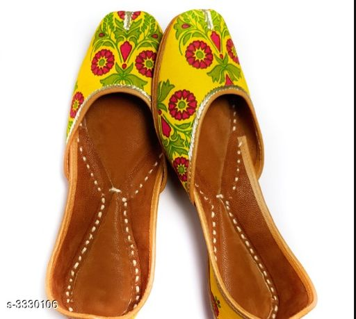 Juttis & Mojaris Women's Stylish Fancy Juti  *Material* Outer- Cotton , Inner - Faux Leather  *IND Size* IND - 3  *Description* It Has 1 Pair of Women's Jutis  *Sizes Available* IND-8, IND-3, IND-4, IND-5, IND-6, IND-7   Supplier Rating: ★3.1 (26) SKU: VMF003 Free shipping is available for this item. Pkt. Weight Range: 300  Catalog Name: Women's Stylish Fancy Jutis Vol 1 - BHAVYA Outfit Code: 919-3330106-9912-