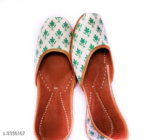 Juttis & Mojaris Women's Stylish Fancy Juti  *Material* Outer- Cotton , Inner - Faux Leather  *IND Size* IND - 3  *Description* It Has 1 Pair of Women's Jutis  *Sizes Available* IND-8, IND-3, IND-4, IND-5, IND-6, IND-7   Supplier Rating: ★3.1 (26) SKU: VMF004 Free shipping is available for this item. Pkt. Weight Range: 300  Catalog Name: Women's Stylish Fancy Jutis Vol 1 - BHAVYA Outfit Code: 919-3330107-9912-