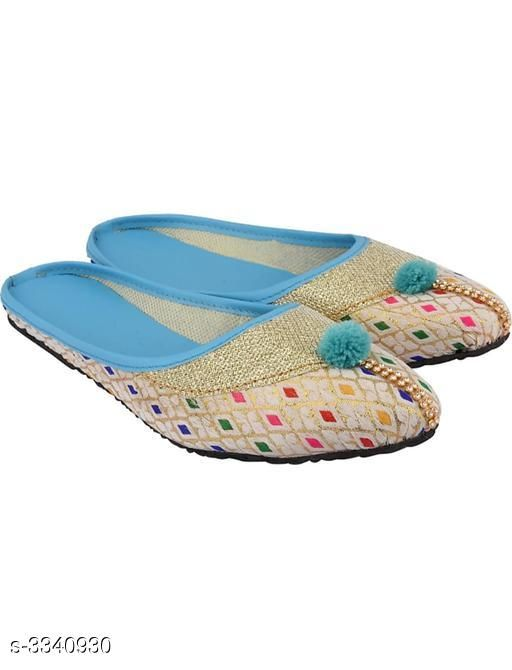 Juttis & Mojaris Attractive Fancy Synthetic Foam Juttis  *Material* Outer - Synthetic Foam , Sole - PVC  *IND Size* IND-3, IND-4, IND -5, IND - 6, IND -7, IND -8  *Description* It Has 1 Pair of Women's Juttis  *Sizes Available* IND-8, IND-3, IND-4, IND-5, IND-6, IND-7   SKU: 5 Shipping charges: Rs1 (Non-refundable) Pkt. Weight Range: 300  Catalog Name: Women's Attractive Fancy Synthetic Foam Juttis  - MOJARI ART & HANDICRAFT Code: 891-3340930--262