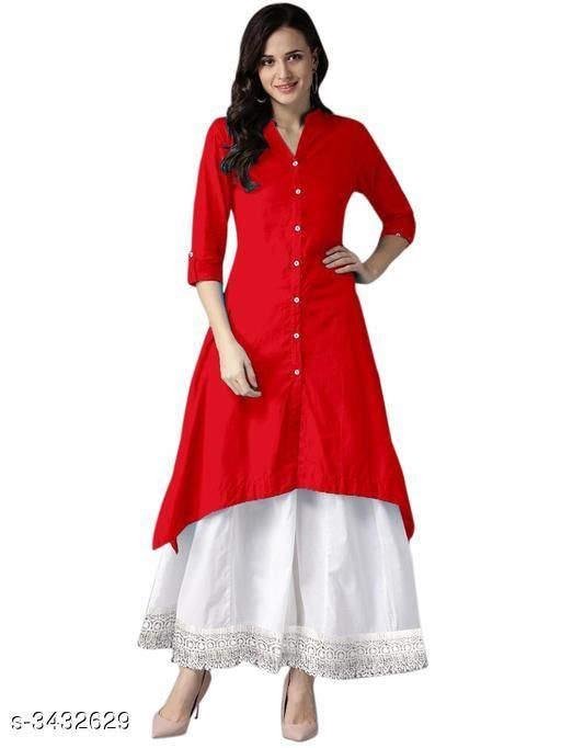 Kurta Sets Fancy Women's Crepe Kurta Set  *Fabric* Kurti - Crepe, Palazzo - Crepe  *Sleeves* Sleeves Are Included  *Size* Kurti  *Length* Kurti - Up to 46 in, Palazzo - Up to 38 in  *Type* Stitched  *Description* It Has 1 Piece Of Women's Kurti With 1 Piece Of Palazzo  *Work * Kurti - Button Work , Palazzo - Lace Work  *Sizes Available* L, XL, XXL   SKU: FWCKS_8 Free shipping is available for this item. Pkt. Weight Range: 600  Catalog Name: Designer Fancy Women's Crepe Kurta Sets Vol 2 - NEH FASHION Code: 016-3432629--