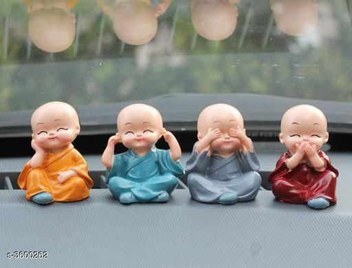 Other Home Decor Stylish Classic Traditional Home Decor  *Material* Resin    *Size (L x H)* 2.36 x 1.57 in  *Description* It Has 4 Pieces Of Monk Toy  *Sizes Available* Free Size   Supplier Rating: ★3.8 (1219) SKU: car-budda-set-of4 Shipping charges: Rs49 (Non-refundable) Pkt. Weight Range: 150  Catalog Name: Stylish Classic Traditional Home Decors Vol 9 - ATC KURTIS Code: 992-3600262--