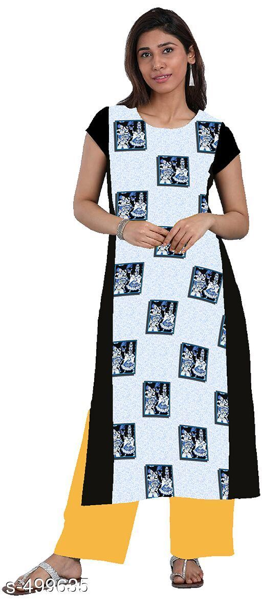 Kurtis & Kurtas Elegant Printed Kurti  *Fabric* American Crepe 