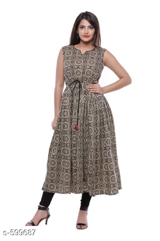 Kurtis & Kurtas Stylish Festive & Party wear Kurti  *Fabric* Kurti – Cotton  *Sleeves* Sleeves Are Not Included  *Size* S – 36 in, M – 38 in, L – 40 in, XL – 42 in, XXL – 44 in, XXXL – 46 in  *Length* Up To 44 in  *Type* Stitched  *Description* It Has 1 Piece Of Kurti  *Work* Printed  *Sizes Available* S, M, L, XL, XXL, XXXL   Catalog Rating: ★4.6 (8) Supplier Rating: ★4.2 (11928) SKU: AYN356-BKB Free shipping is available for this item. Pkt. Weight Range: 300  Catalog Name: Yellow Rehali Kurtis Vol 1 - Sale Mantra Code: 115-599687--295
