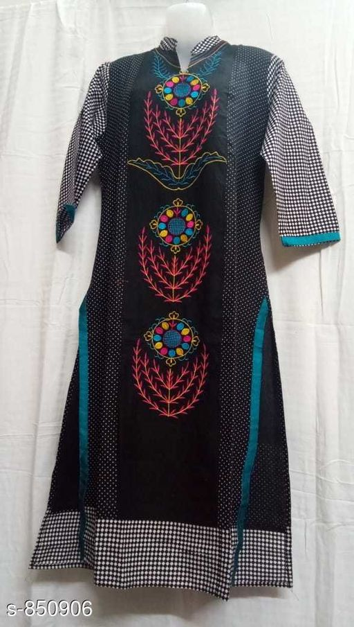 Kurtis & Kurtas Designer Party Wear Kurti  *Fabric* Rayon  *Sleeves* 3/4th Sleeves Are Included  *Size* M - 38 in, XL - 42 in, XXL - 44 in  *Length* Up To 52 in  *Type* Stitched  *Description* It Has 1 Piece Of Kurti  *Work* Printed  *Sizes Available* M, L, XL, XXL   SKU: kkc013 Free shipping is available for this item. Pkt. Weight Range: 300  Catalog Name: Mayrana Designer Party Wear Kurtis Vol 6 - KKF Kurti Code: 094-850906--