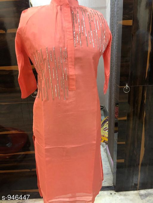 Kurtis & Kurtas Attractive Rayon Hand Work Kurti  *Fabric* Rayon  *Sleeves* 3/4 Sleeves Are Included  *Size* XL - 42 in  *Length* Up To 48 in  *Type* Stitched  *Description* It Has 1 Piece Of Women's Kurti  *Work* Hand Work  *Sizes Available* L   SKU: ARHWK_5 Free shipping is available for this item. Pkt. Weight Range: 300  Catalog Name: Inaaya Ethnic Rayon Hand Work Kurtis - Artee ethnics Code: 0771-946447--