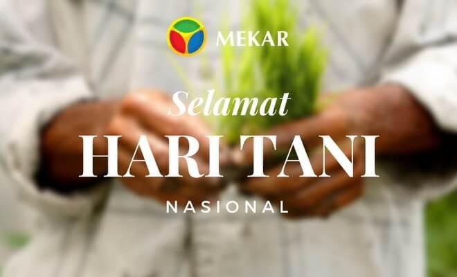 Selamat Hari Tani Nasional 2017