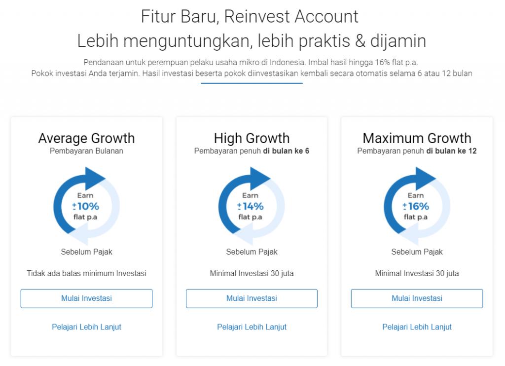 Mekar Reinvest Feature