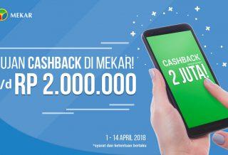 Cashback in Mekar This April