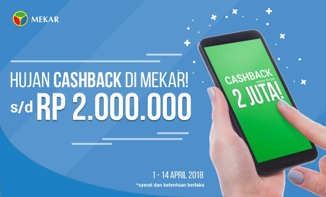 Cashback in Mekar This April