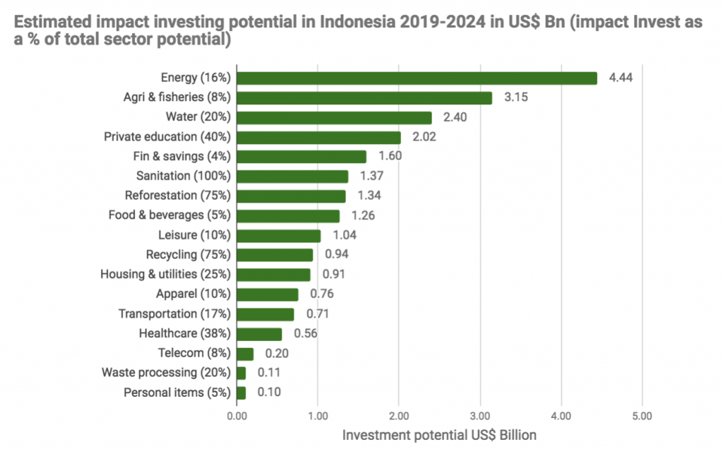 Estimated Impact Investing Potential in Indonesia 2019-2024