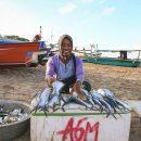 Ibu Penjual Ikan di Pantai Ternate