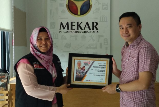 Mekar Donates to Palu Disaster Victims