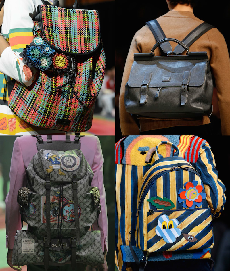 Clockwise from top left: Paul Smith, Dolce & Gabbana, Fendi, Gucci