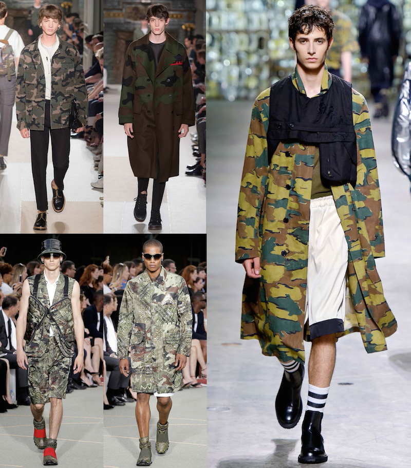 Clockwise from top left: Valention, Dries Van Noten, Givenchy