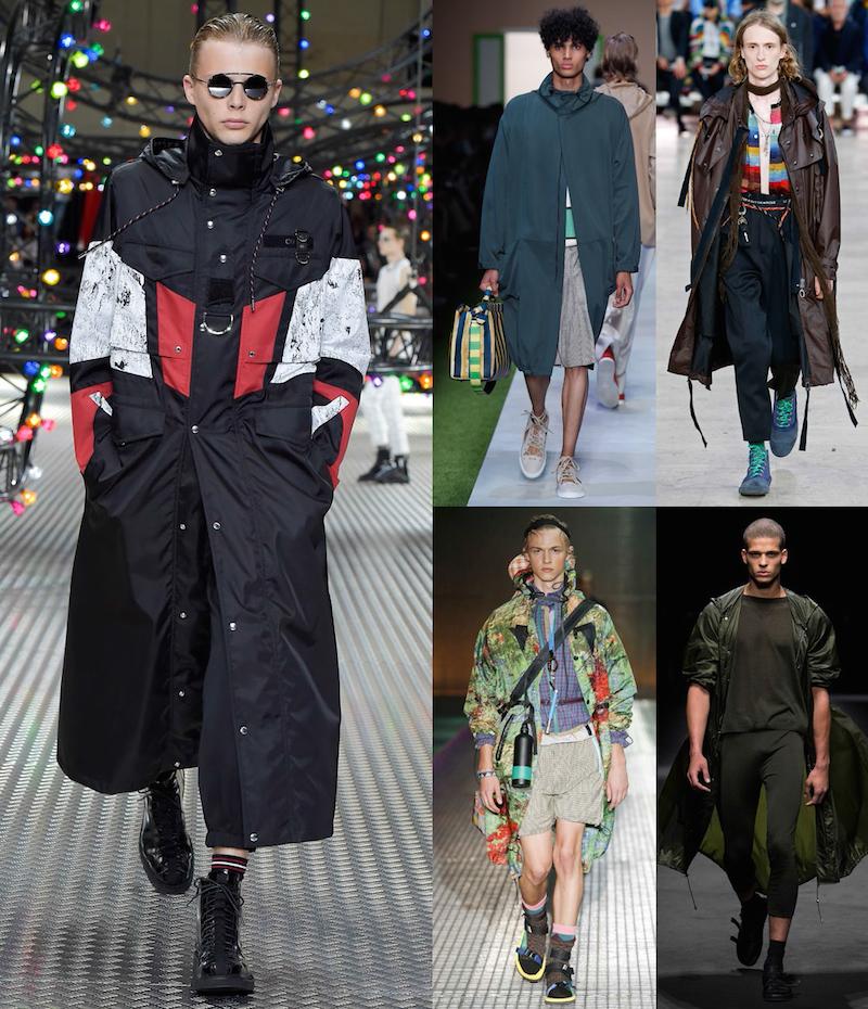 Clockwise from left: Dior Homme, Fendi, Lanvin, Prada, Versace