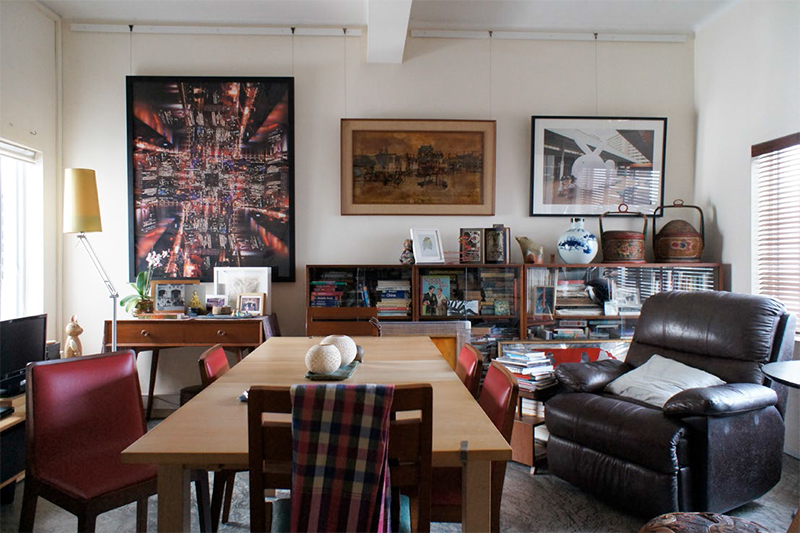Interior view photographs of artists' Housing Development Board (HDB) houses, from the project 'HDB Homes of Singapore' by Tamae Iwasaki, Eitaro Ogawa and Tomohisa Miyauchi