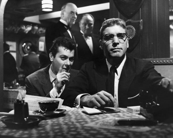 2cb5acdcec45f Curtis and Lancaster in Sweet Smell of Success Tony Curtis as publicist  Sidney Falco and Burt Lancaster as gossip columnist J.J. Hunsecker in Sweet  Smell of ...