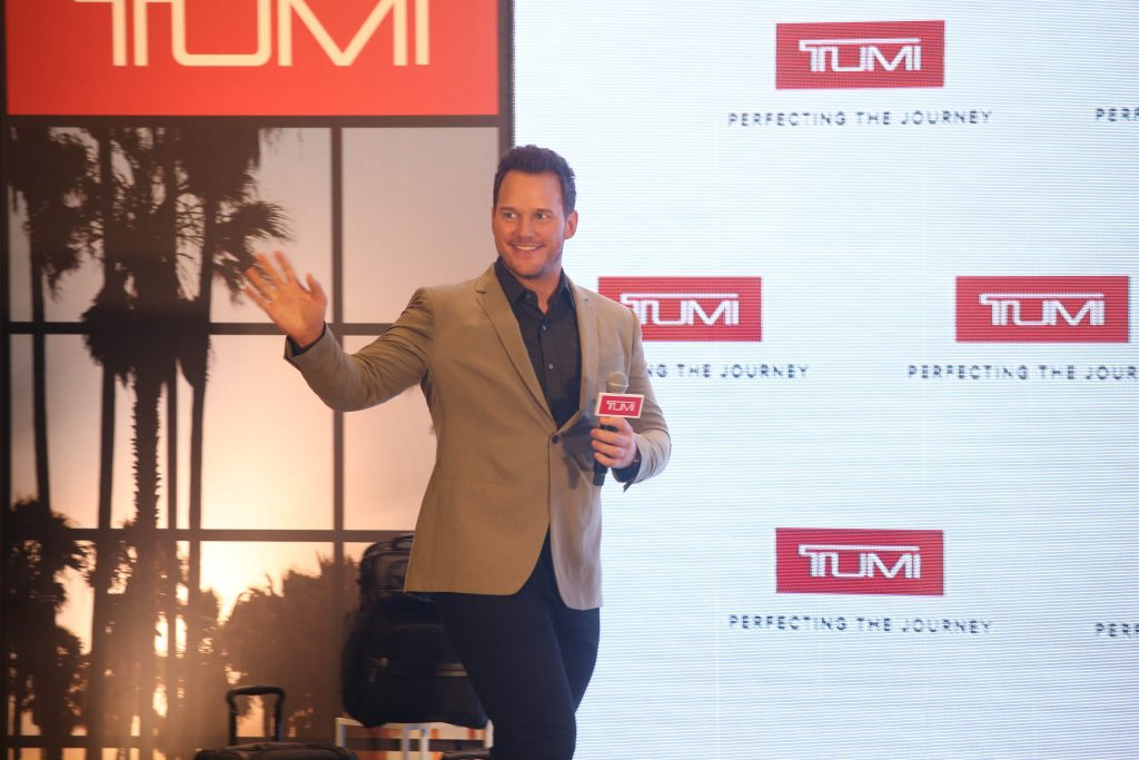 Chris Pratt Launches Tumi Latest Campaign