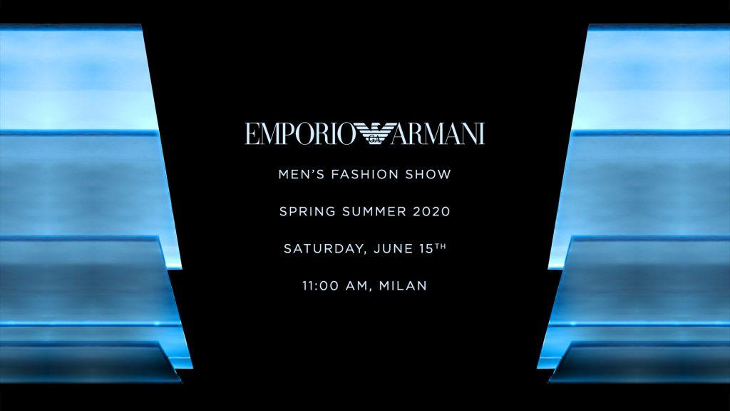 LIVESTREAM: Emporio Armani Spring/Summer'20 Fashion Show
