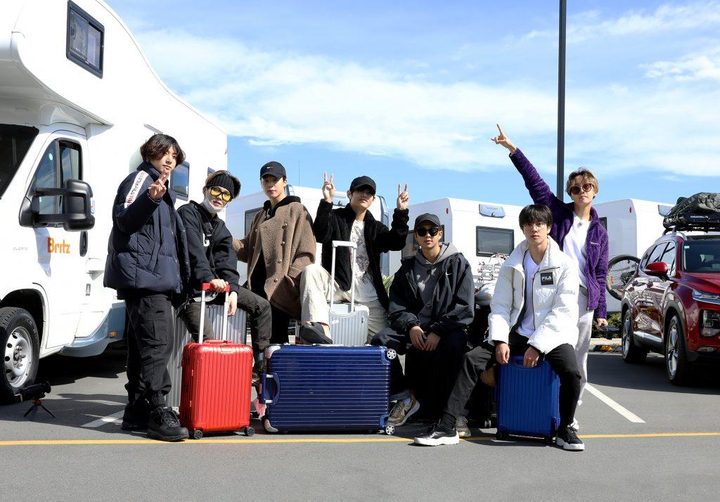 #ManCrushMonday — BTS Takes Rimowa Luggage On the Road for BTS BON VOYAGE Season 4