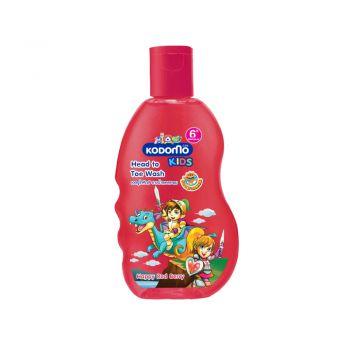 KODOMO โคโดโม เฮดทูโท คิดส์ อาบน้ำ และ สระผม กลิ่น Happy Red Berry 200 มล.