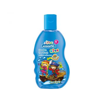 KODOMO โคโดโม เฮดทูโท คิดส์ อาบน้ำ และ สระผม กลิ่น บลูแคนดี้ (Blue Candy) 200 มล.