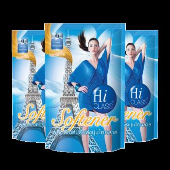 HI CLASS ผลิตภัณฑ์ ปรับผ้านุ่ม ไฮคลาส สูตรมาตรฐาน กลิ่น Blue Heaven 550 มล. ชนิดถุงเติม (3 ถุง)