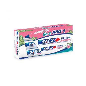 SALZ ยาสีฟัน ซอลส์ เฮอร์เบิล พิงค์ ซอลท์ ( Herbal Pink Salt ) (แพ็ค 3) 160 กรัม 3 หลอด