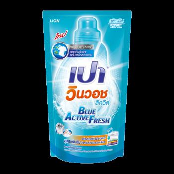 PAO Win Wash น้ำยาซักผ้า สูตรเข้มข้น เปา วินวอช Blue Active Fresh 700 มล.