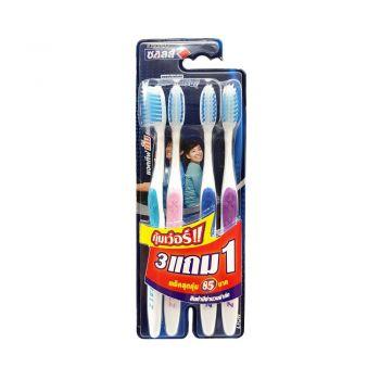 SALZ แปรงสีฟัน ซอลส์ แอคทีฟกัมแคร์ (แพ็ค 3 แถม 1 ด้าม)