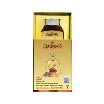 Ascor-10 ผลิตภัณฑ์เสริมอาหารแอสคอร์-เท็น (1 ขวด บรรจุ 30 เม็ด) LION Saha Group Online